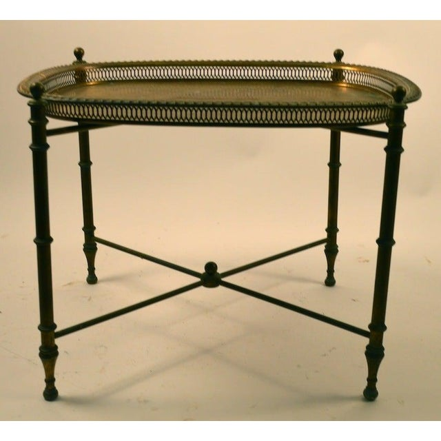 Classical Brass Tray-Top Table For Sale - Image 4 of 7