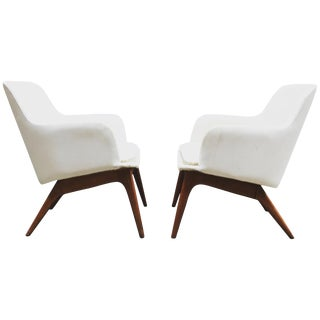 Pair of 1960s Modernist Armchairs For Sale