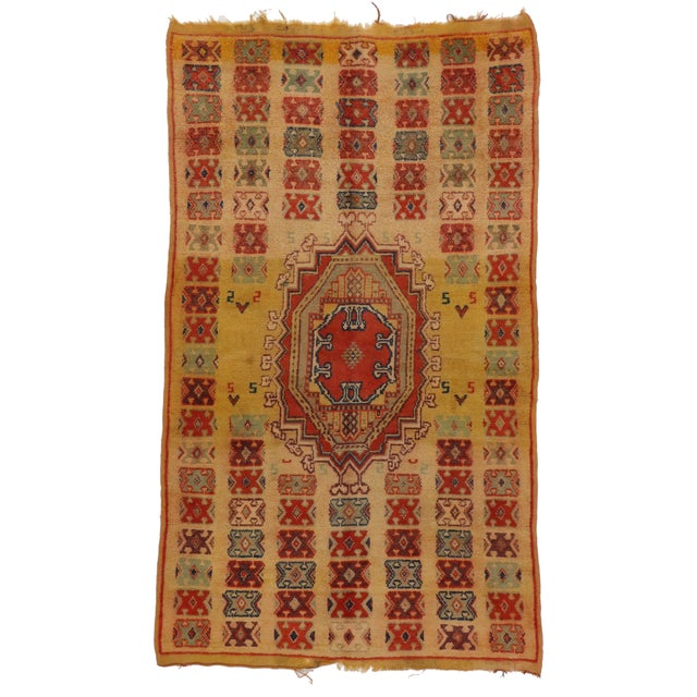 Vintage Berber Moroccan Rug - 5′ × 8′4″ - Image 2 of 3
