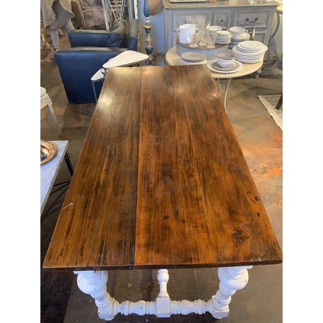 1910s French Farm Table For Sale - Image 4 of 13