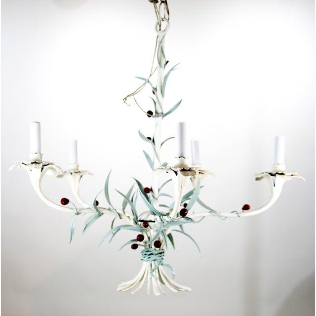 Italian Italian Tole Chandelier For Sale - Image 3 of 9