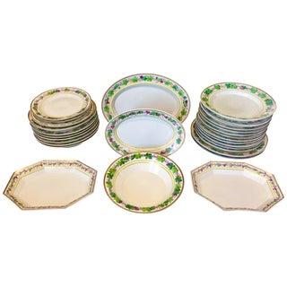 Berlin/Kpm Porcelain Dinner Service, King Wilhelm II Grape Motif - Set of 26 For Sale
