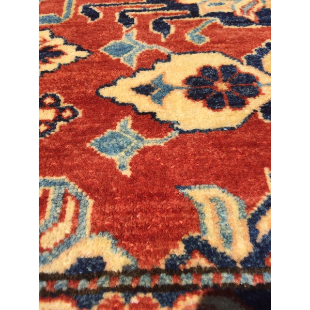 "Textile Kazak Knotted Wool Rug -- 7'6"" x 11'3"" For Sale - Image 7 of 10"