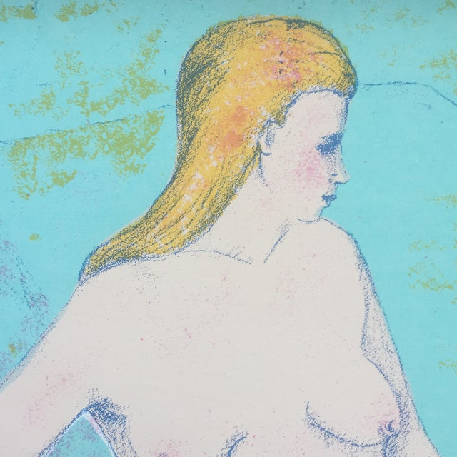 Contemporary Vintage Female Nude Original Lithograph For Sale - Image 3 of 5