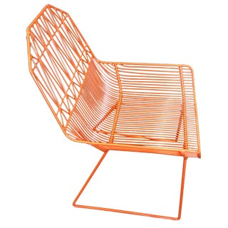 Bend Goods Orange Farmhouse Lounge Chair For Sale