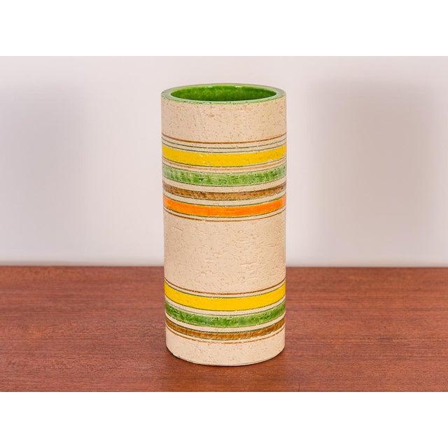 Ceramic Rosenthal Netter Striped Italian Vase for Bitossi For Sale - Image 7 of 7
