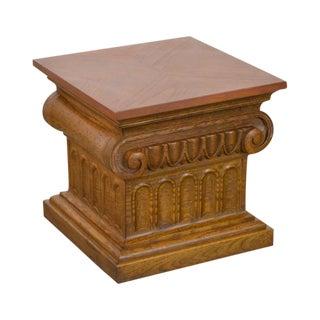 Drexel Heritage Guild Hall Corinthian Column Low Pedestal Stand