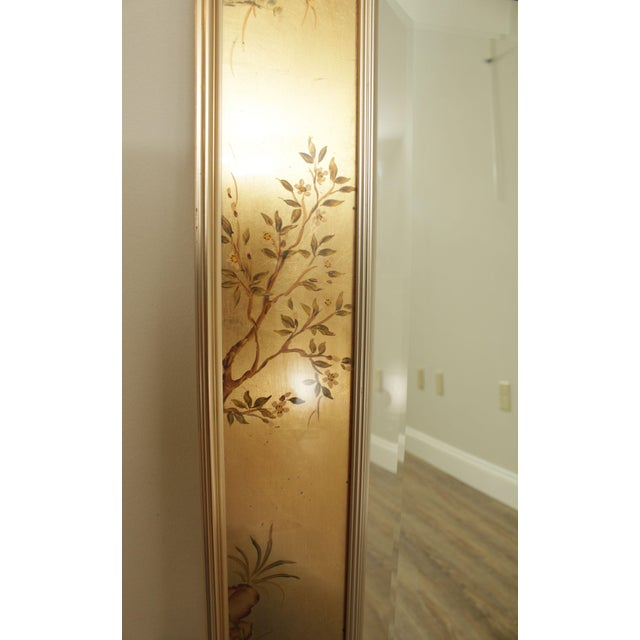 Gold LaBarge Gold Chinoiserie Eglomise Reverse Painted Mirror For Sale - Image 8 of 13