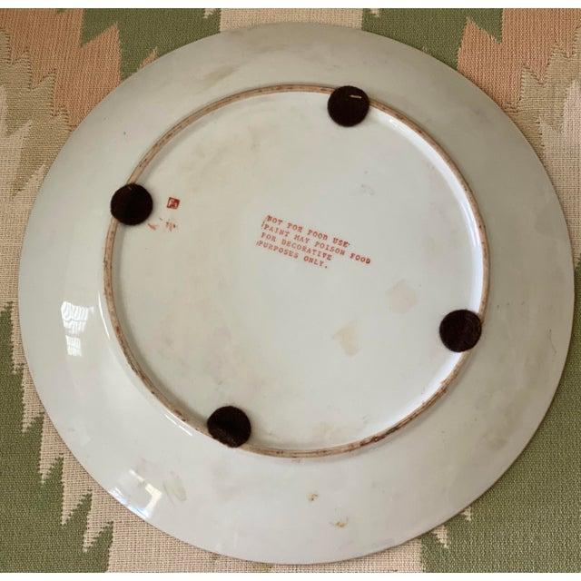 Ceramic Tobacco Leaf Plate For Sale - Image 7 of 11