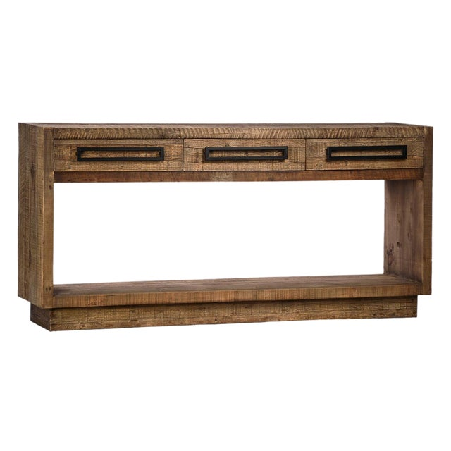 Modern reclaimed wood console table chairish for Table 850 wood