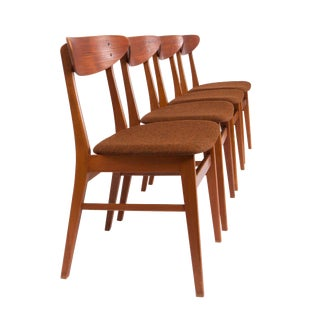 Farstrup Mobler Teak & Beech Dining Chairs - Set of 4