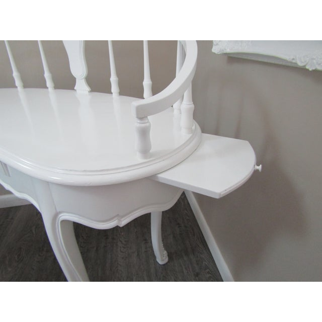 Contemporary Hollywood Regency Kidney Shaped Vanity/Writing Desk With Upholstered Swivel Chair For Sale - Image 3 of 9