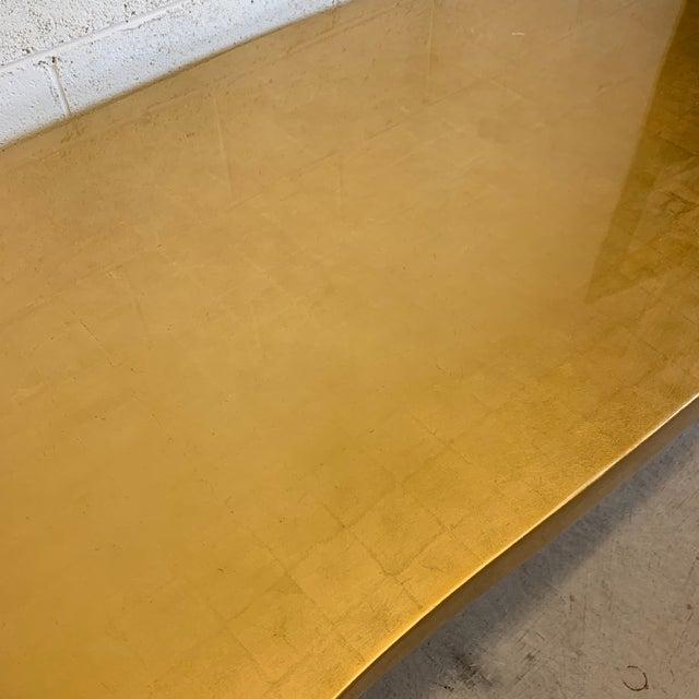 Alden Parkes Gold Bronze Leaf Chantal Cocktail Table For Sale - Image 4 of 12