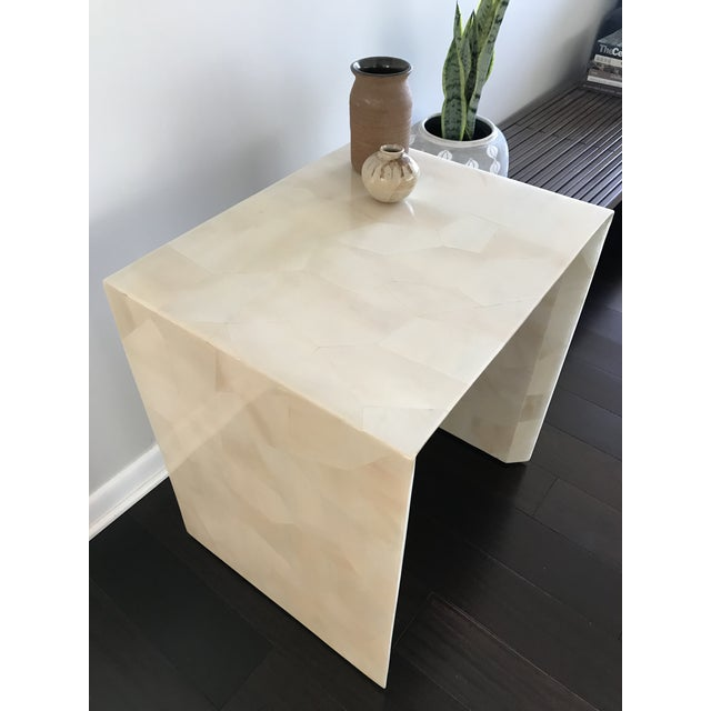 Modern Made Goods Sleek Faux Horn Side Table For Sale In Los Angeles - Image 6 of 13