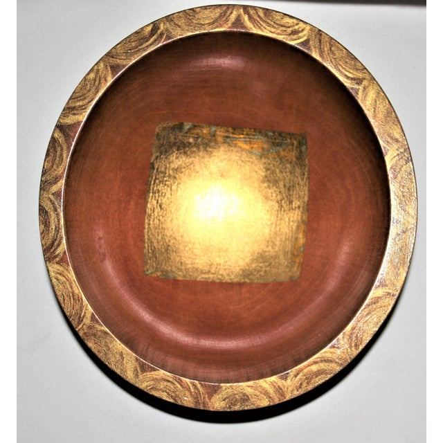 Hand-Carved Mixed Media Maplewood Art Bowl For Sale - Image 10 of 10