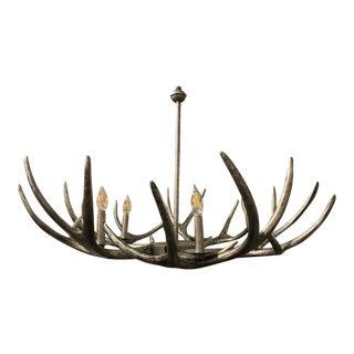 Metal Deer Antler Chandelier For Sale