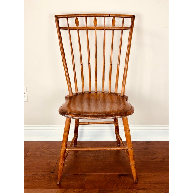 Early 19th Century Antique Fan Back Windsor Chair For Sale - Image 9 of 9