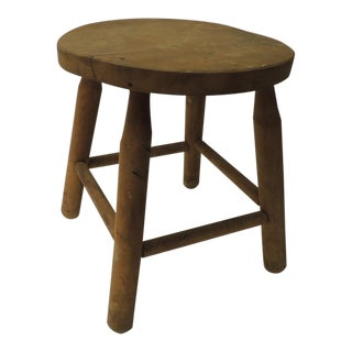 Primitive Rustic Round Milking Stool For Sale