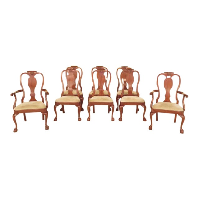 Henkel Harris Ball & Claw Cherry Dining Room Chairs - Set of 8 - Image 1 of 11