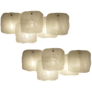 JT Kalmar Pair of Large Modernist Wall Sconces For Sale