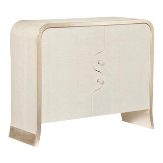 Caracole Modern White I'm Puzzled Chest For Sale