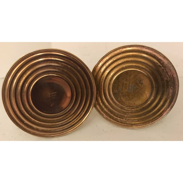 Mid 20th Century Gorham Brass Weighted Candle Holders - a Pair For Sale In Dallas - Image 6 of 7