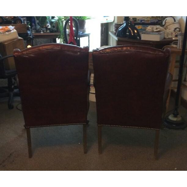 High Point Leather Wingback Chairs - Set of 2 - Image 11 of 11