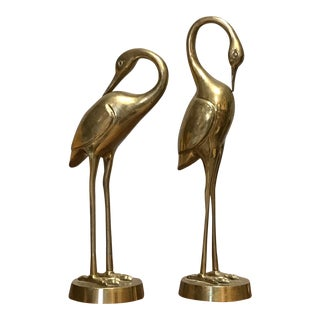 Monumental Brass Cranes - A Pair