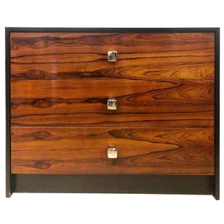 Mid-Century Modern Rosewood and Ebony Commode / Chest or Nightstand Baughman For Sale