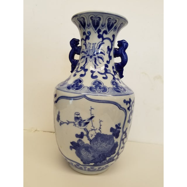 2000 - 2009 Chinese Blue and White Vase For Sale - Image 5 of 5