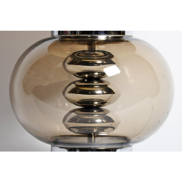 Glass and Chrome Table Lamps - A Pair For Sale - Image 9 of 13