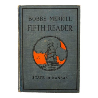 1920s Kansas School Book in Blue For Sale