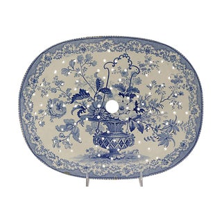 1840s English Staffordshire Cheese Platter