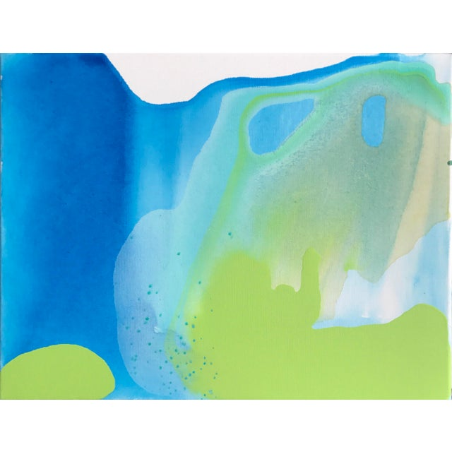 Blue Green Painting by Matthew Izzo - Image 4 of 4