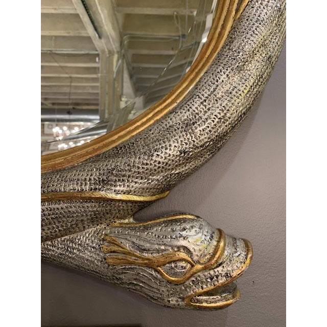 Mid 20th Century Maitland Smith Serpent Mirror For Sale In Chicago - Image 6 of 12
