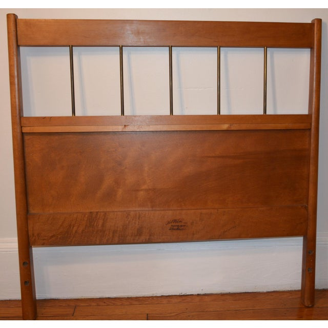 "Winchendon Furniture ""Planner Group"" Paul McCobb Mid-Century Modern Twin Headboards - a Pair For Sale - Image 4 of 11"