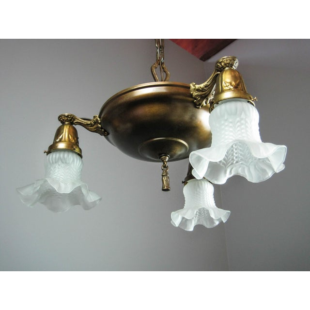 Original Pan Light Fixture (3-Light) - Image 5 of 8