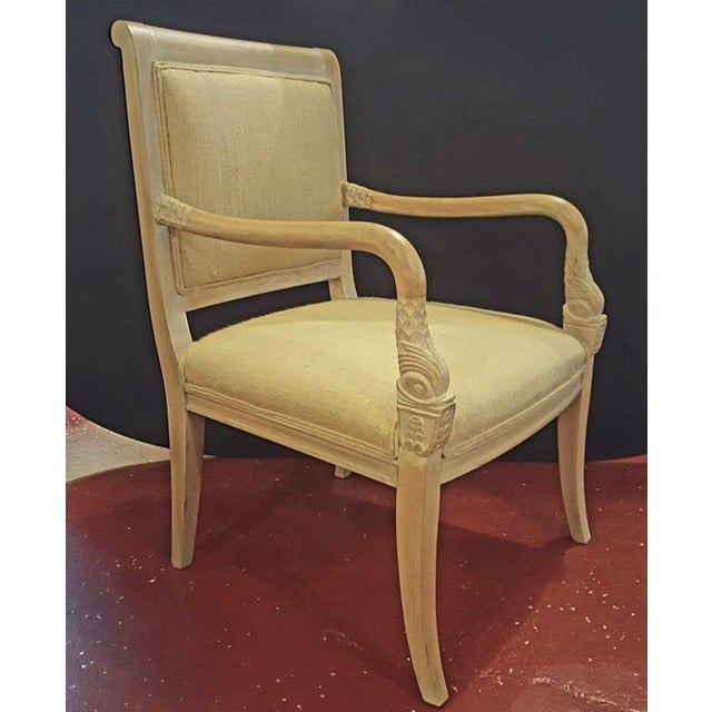 French Arm Chairs with Swan Heads - A Pair For Sale - Image 3 of 8