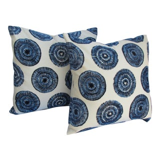 Whilrling Throw Pillows- a Pair For Sale