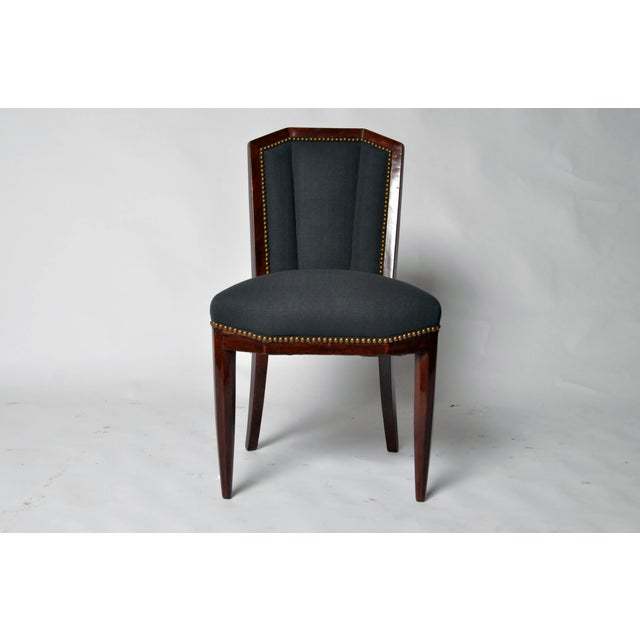 1940s Art Deco Dining Chairs - Set of 6 For Sale - Image 4 of 10