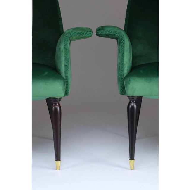 1940s 20th Century Pair of Italian Armchairs, 1940s For Sale - Image 5 of 9