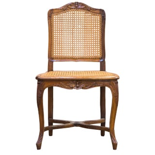 Set of Antique Caned Dining Chairs - Set of 7 For Sale