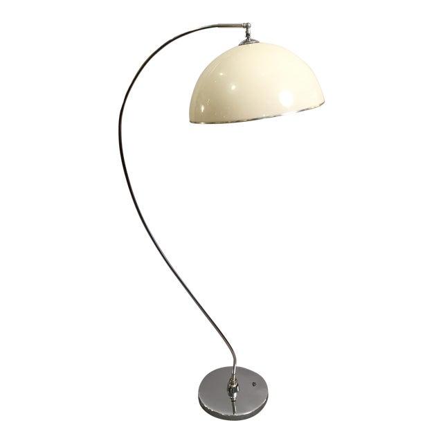 Mid-Century Floor Lamp Chrome 1970's - Image 1 of 6