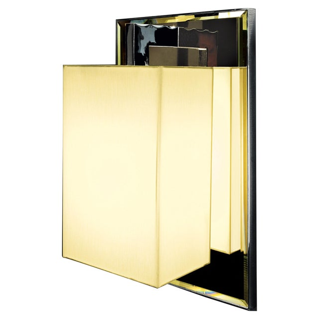 Coco Deluxe Ap Chrome Wall Sconce For Sale In New York - Image 6 of 6