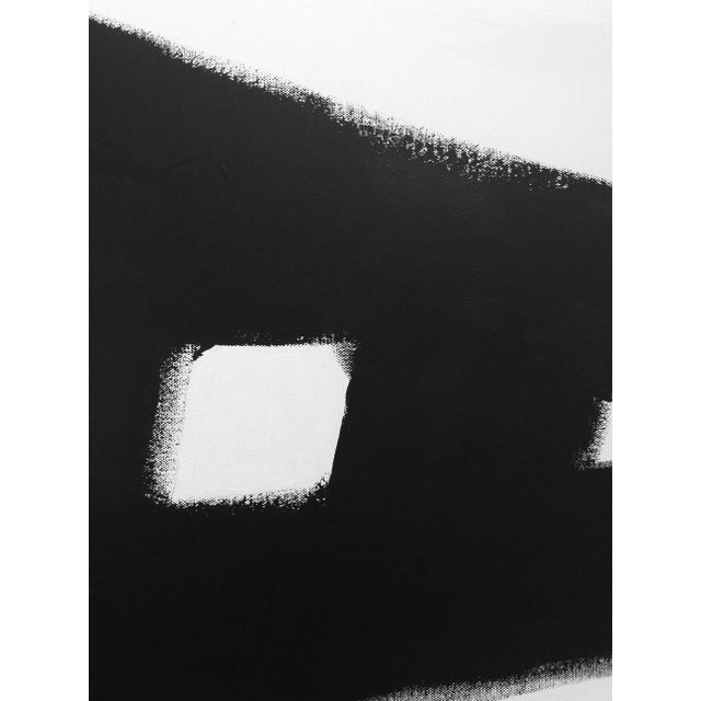 """Abstract Kathi Blinn """"All the Road Running"""" Contemporary Black and White Acrylic Painting For Sale - Image 3 of 5"""