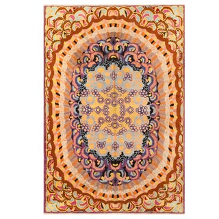 Vintage French Art Nouveau Rug - 6′4″ × 9′3″ For Sale