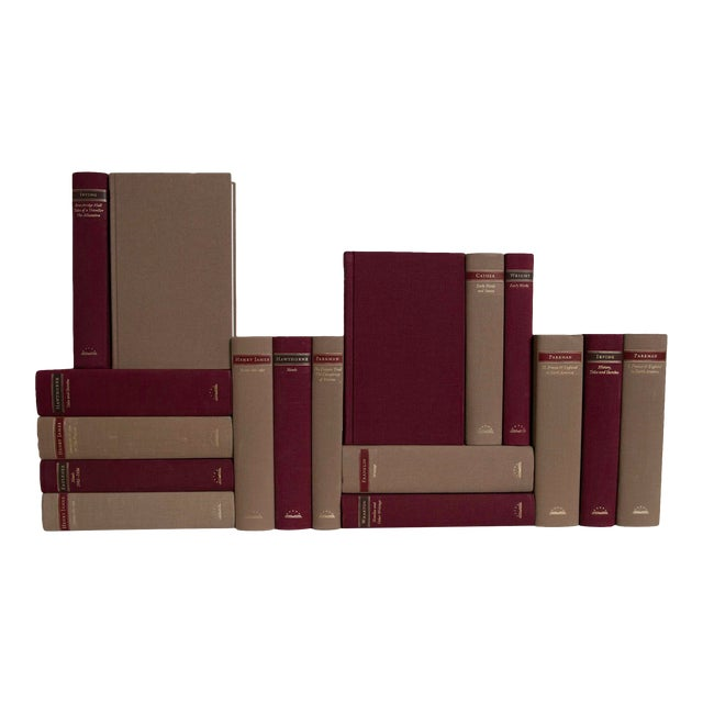 Maroon & Brown Classics Book Set - Set of 17 For Sale