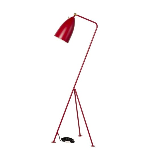 Ruby Red Mid-Century Modern Red Grasshopper Floor Lamps - Sold Separately For Sale - Image 8 of 9