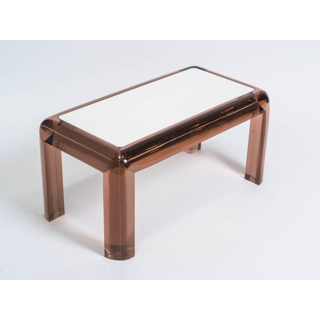 Chunky Lucite Side or Cocktail Table For Sale In New York - Image 6 of 8