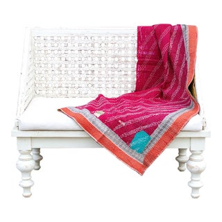 Marvi Bengal Kantha Throw For Sale
